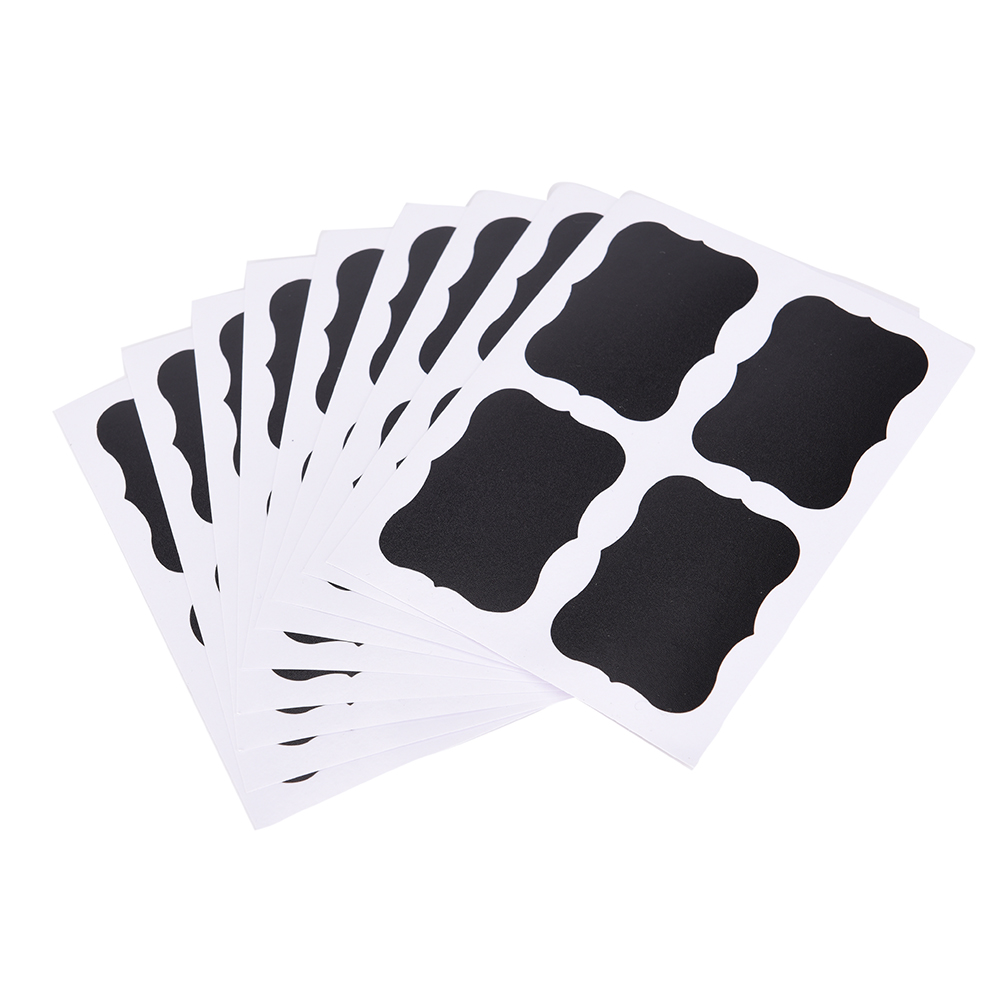36pcs Reusable Stickers Label For Use On Candy Jars Can Snack Nut Storage Box Container Write With Chalk 49 X 34mm