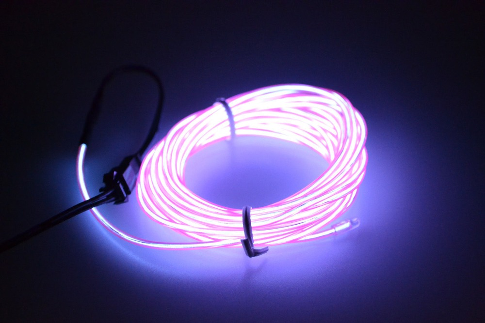 5m 10 Colors Neon Led El Wire Lamp Glow String Lights Rope For Home Car Dance Party Decoration 12v Ed Controller In Strips From