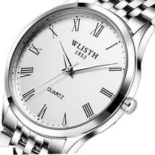 WLISTH Rolex_watch   men's quartz watch classic business stainless steel watch men's waterproof watch  Relogio masculino stainless steel business quartz watch
