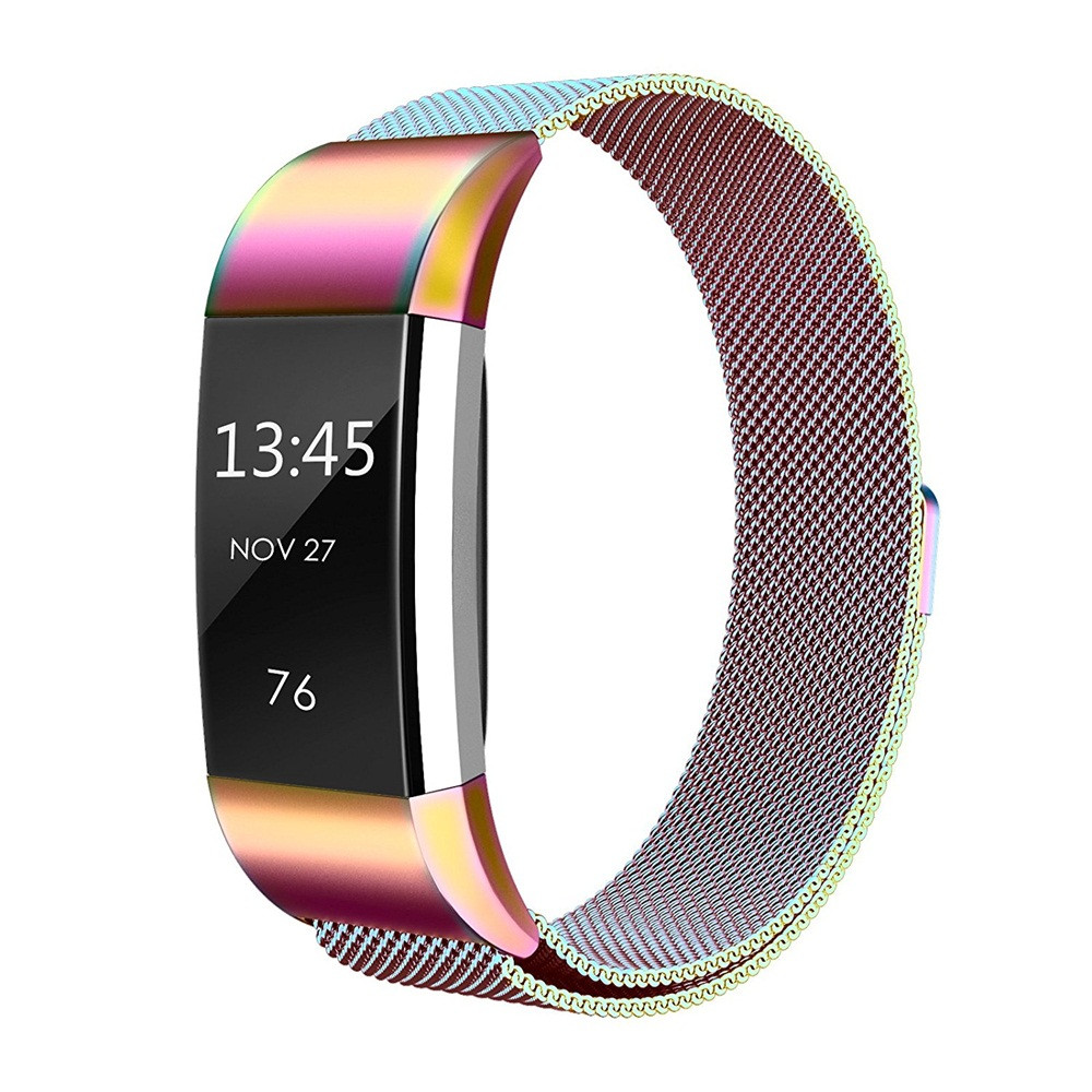 New Colorful Milanese Stainless Steel Watch Band Strap Bracelet For Fitbit Charge 2 High Quality Watchbands 2018 joyozy milanese stainless steel strap for fitbit charge 2 band for charge 2 smart wristband bracelet strap charge2 new color