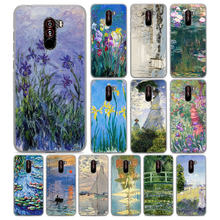 Claude Monet pintura a óleo Clássica para Pocophone F1 (6.18 polegada) hard case Telefone PC para Poco F1 mobile phone bag capa Fundas Coque(China)