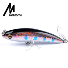 MEREDITH fishing Hot Model  quality fishing lures,  VIB, small pencil lures 75mm 10g, hard baits FLOATING