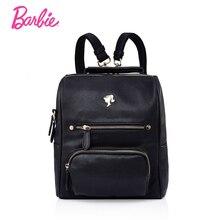 Барби женские рюкзаки летние девушки черный рюкзак студент мешок тенденции моды краткое мешок для дамы большой объем