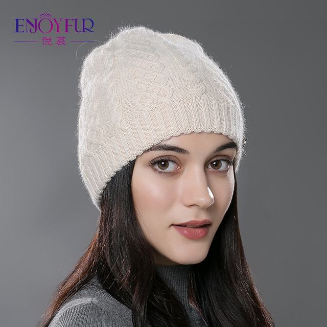 Women Winter Hats  Elastic Knitted Wool