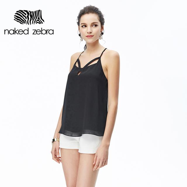 Naked zebra verão 2017 feminino halter top camisola sem mangas colete cinta backless criss cross sexy tanque das mulheres tops sólidos top