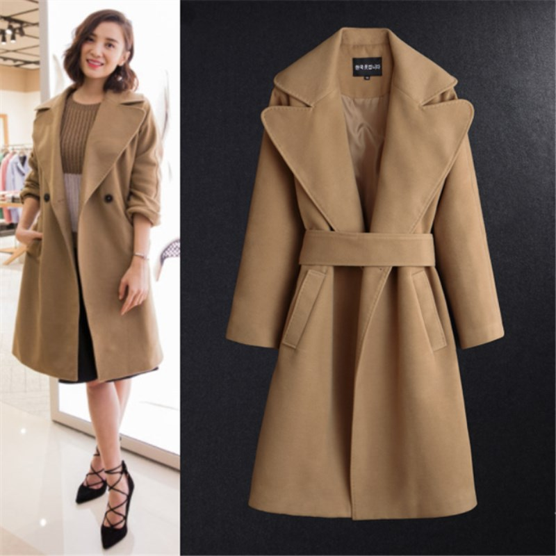 And cashmere coat Female star with classic long camel cloth coat a undertakes to 3638