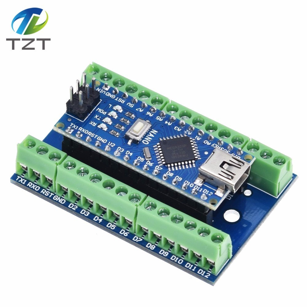 NANO V3.0 3.0 Controller Terminal Adapter Expansion Board  Simple Extension Plate For Arduino  AVR ATMEGA328P
