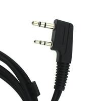 baofeng uv 5r K Plug מכשיר הקשר אוזניות D-סוג אצבע אוזן Stick זוגי PTT אפרכסת טקטי אוזניות עבור Baofeng UV-5R Kenwood TK-3107 (5)