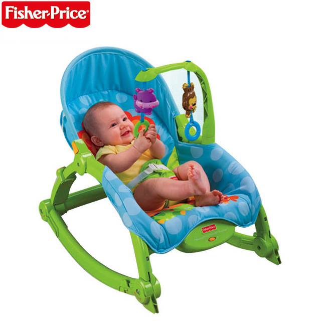 Fisher *price Baby rocking chair toy adjustable chaise multifunction portable electric appease ...