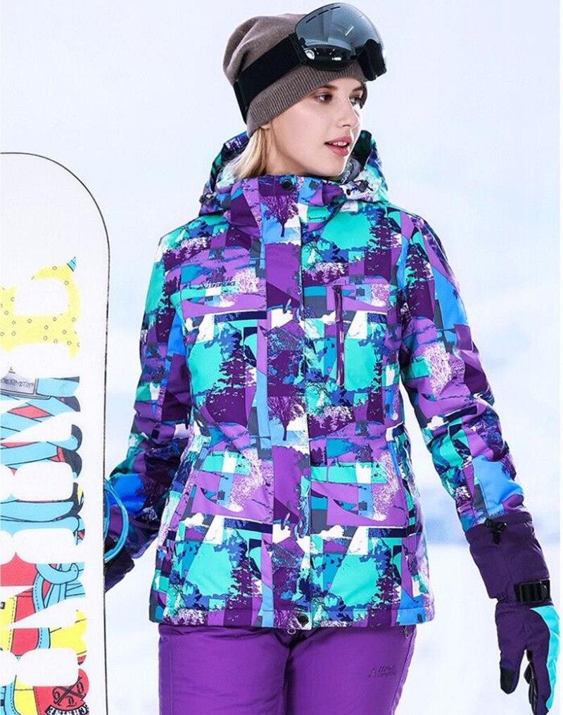 Combinaison de Ski d'hiver pour femmes vestes de neige pantalon combinaisons de Snowboard femme ensemble de Sport d'hiver combinaison de Ski femmes imperméable thermique Snowboard