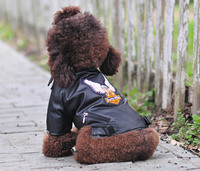 Bajila Small Medium Dog Pet Luxury Leather Jacket Coats For Dog Autumn Winter Eagle Chihuahua Dog