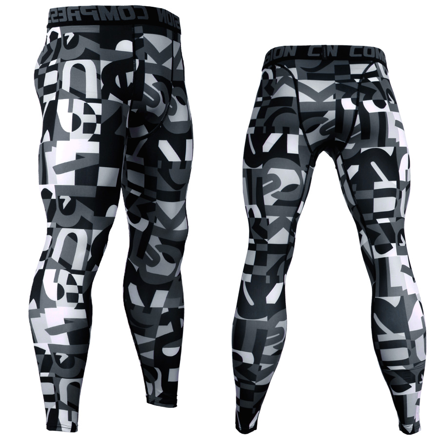 3D Printed Camouflage Joggers Leggings Men Quick Dry Compression Pants Gyms Fitness Tights Casual Workout Trousers Long Pants