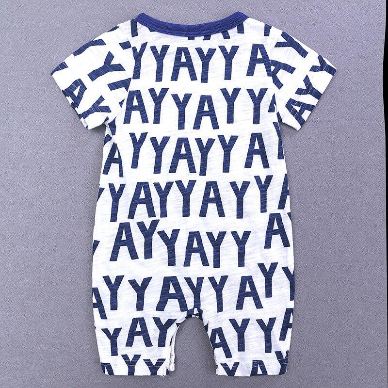 HTB1Q18BXULrK1Rjy0Fjq6zYXFXa9 2019 Cartoon Baby Onesies Summer Cotton Romper Boy Girls 0-24 Months Kids Clothes Knitted Cartoon Short-sleeved Jumpsuit Outfits