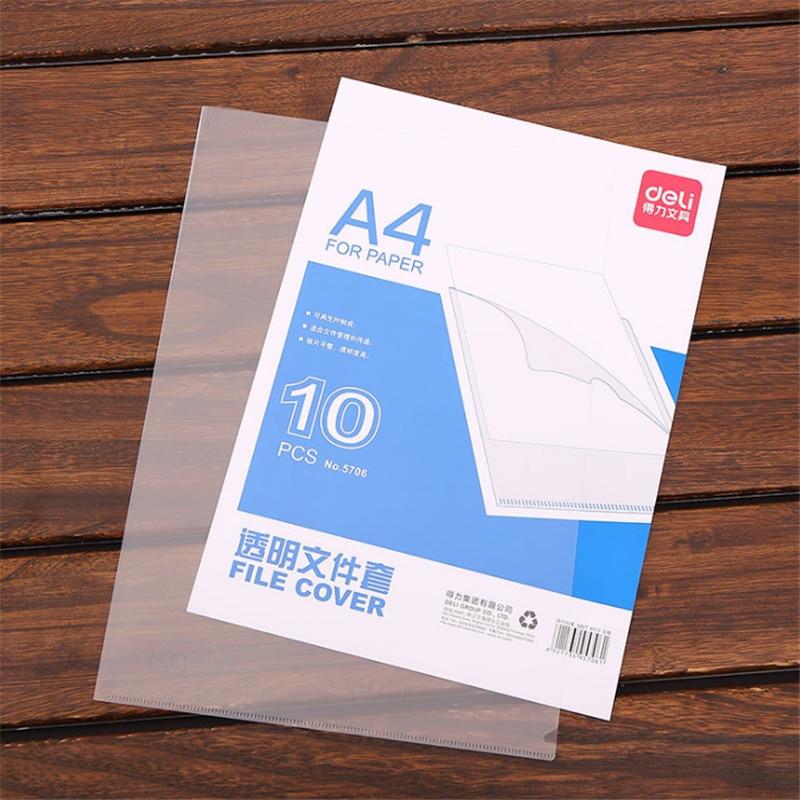10 PCS Single Clip Single Folder Single Page Folder L-shaped Document Bag Report Folder Office Storage