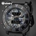 INFANTRY Men Watches Camo Style Gray Rubber Strap Analog Digital Watches Relojes Japanese Quartz Luxury Waterproof Wristwatch