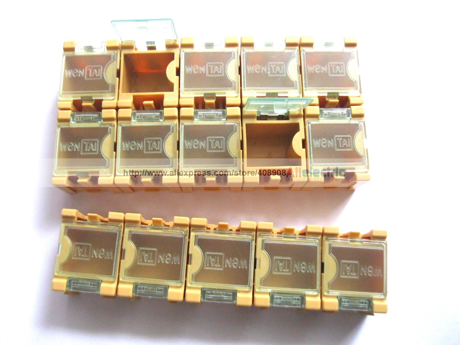 100 x Yellow SMD Electronic Component Mini Storage Box