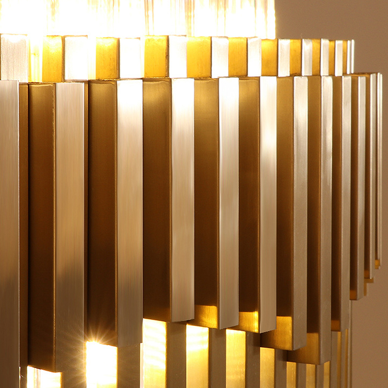 Gold Chandelier Lighting For Living Room Luxury Modern LED Lustres De Cristal 1