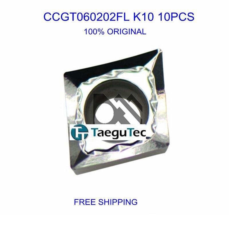 CCGT060202 FL K10 TaeguTec Carbide igavad sisetükid töötavad alumiiniumsulamist 10tk