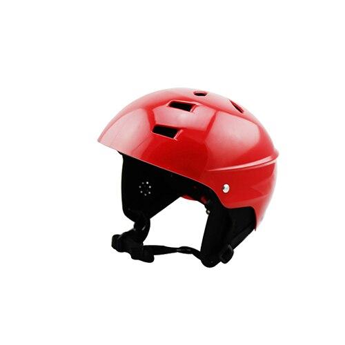 Aquatic Red Helmet white water sports equipment Kayak Rafting Skateboard head wear for women and kids