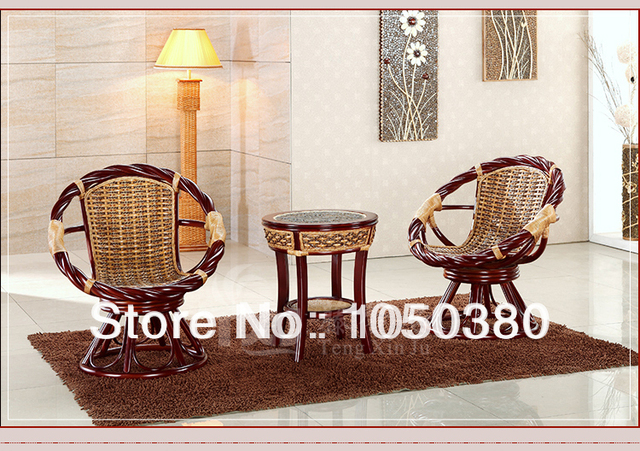 Indonesische onyx rotan stoel driedelige combinatie thee