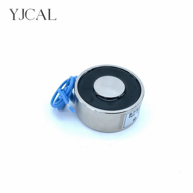 YJ-45/64 Holding Electric Sucker Electromagnet Magnet Dc 12V 24V Suction-cup Cylindrical Lifting 50KG Gallium Metal China