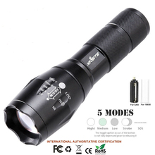LED Flashlight Tactical 50000LM XML-T6 Zoomable Torch Lamp 5
