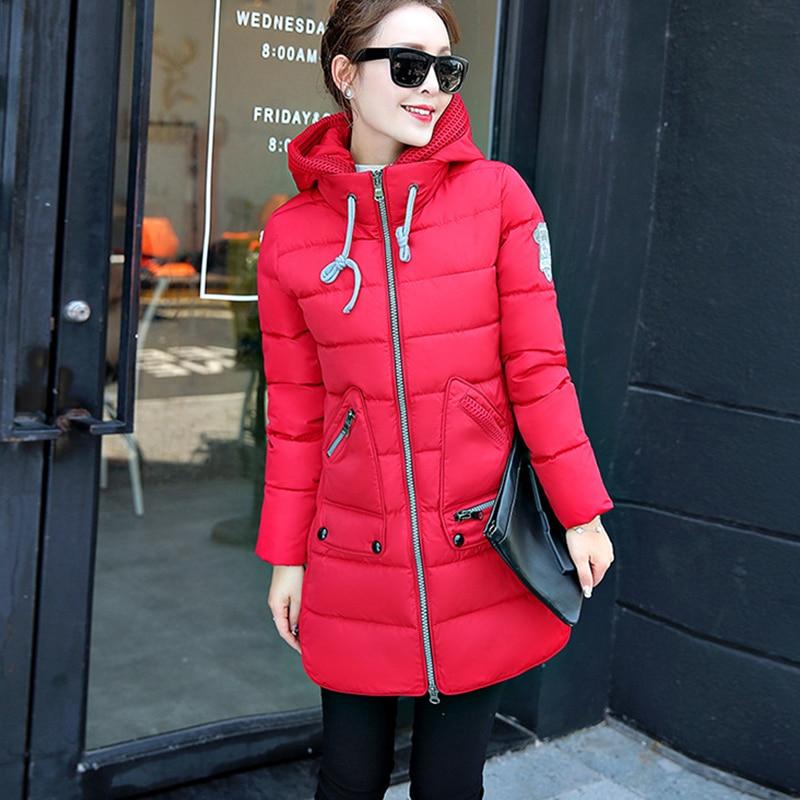 6XL плюс Размеры 2018 зимняя куртка Для женщин утепленная куртка и пальто для Для женщин высокое качество парка с капюшоном женские пальто Прям...