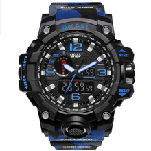 SMAEL Brand Digital Watch Men Military Sports Watches Fashion Casual Mens Student Swim Dress LED Waterproof G Stlye Wristwatches