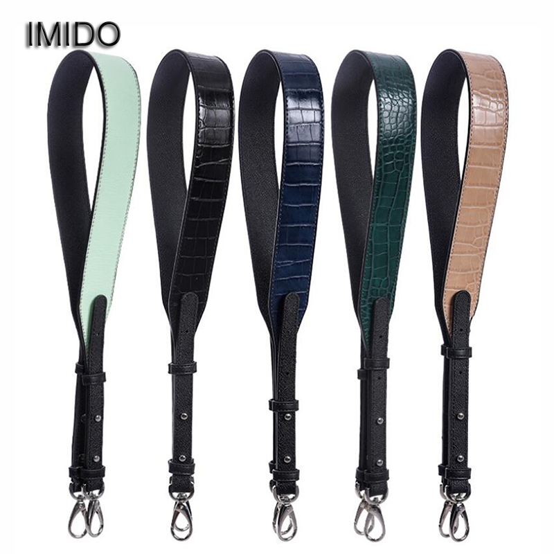 IMIDO 2019 Luxury Crocodile Pattern Pu Leather Women Replacement Strap Shoulder Belt Handbag Accessories Parts For Bags STP121