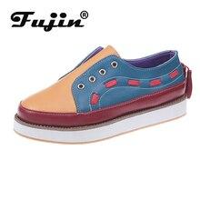 Fujin Women Flat Shoes Dropshipping Thick Bottom Women Low Top Fashion Shoes Slip on Lazy Shoes Causal Peadal Shoes Autumn Flats
