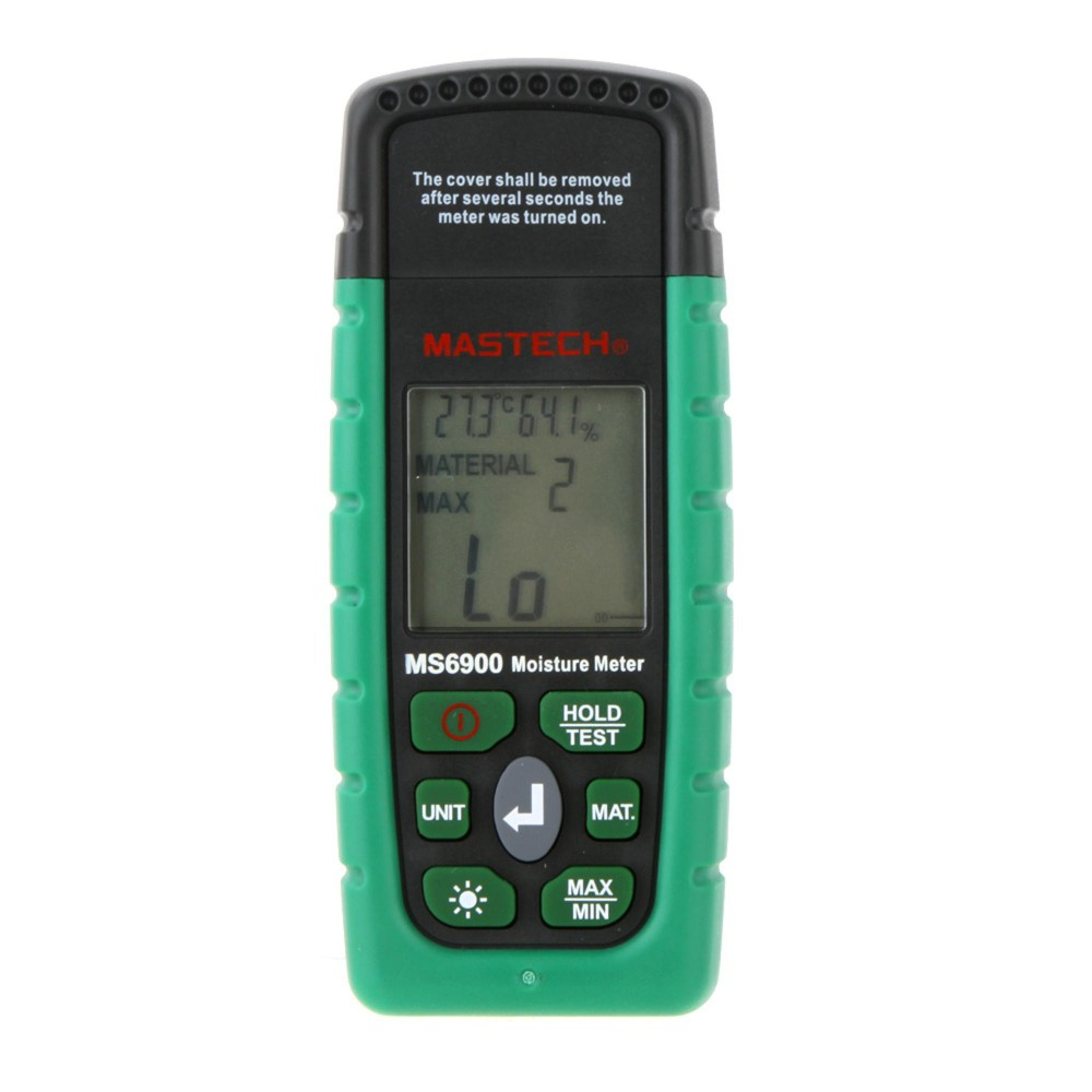 Mastech MS6900 higrometre Mini Digital Moisture Meter Wood/ Lumber/Concrete Buildings Humidity Tester with LCD Display finn flare azalea