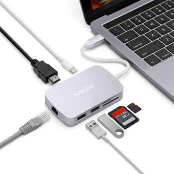 MINIX ネオ C マルチポートアダプタと VGA 出力 USB3.0 * 2 タイプ TF と Sd カードリーダータイプ C 充電ギガビットイーサネットポートグレー