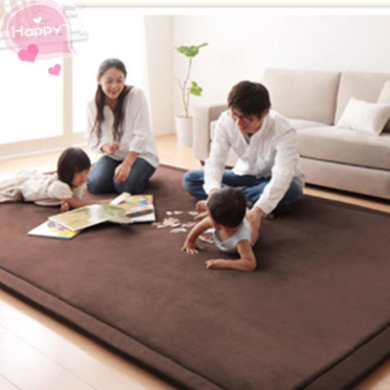 Thicken Carpet Coral Fleece Japan Living Room Big Size Bed Mattress Cushion Tea