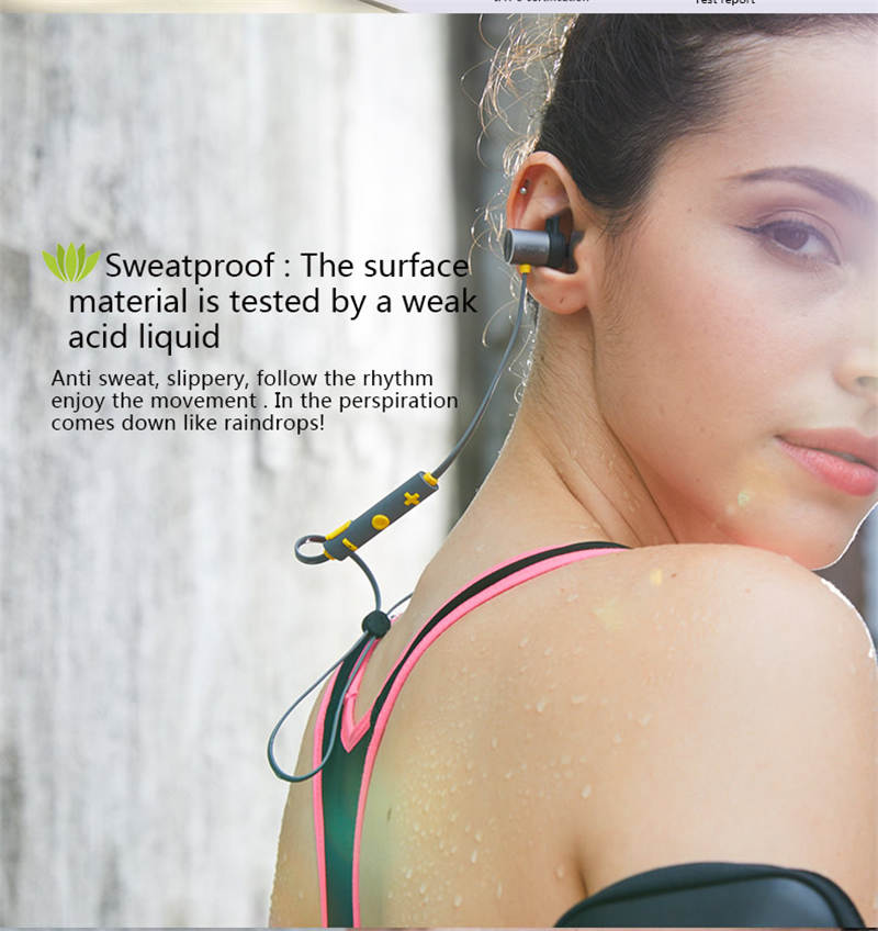 IPX5 Waterproof Sport Bluetooth Earphone Wireless Bluetooth Headset Magnetic Stereo Earbuds Bluetooth Earpiece With Microphone