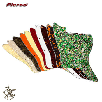 Pleroo Custom Guitar Parts - For US Jazzmaster style Blank With Fixed Screw Holes Guitar pickguard Replacement 5pcs electric guitar pickguard for yamaha pacifica 112v replacement 3ply white pearl