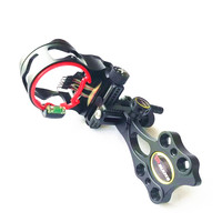 5 pins Optical Fiber Compound Bow Sight Micro Adjustable Bow Sight Outdoor Hunting Archery
