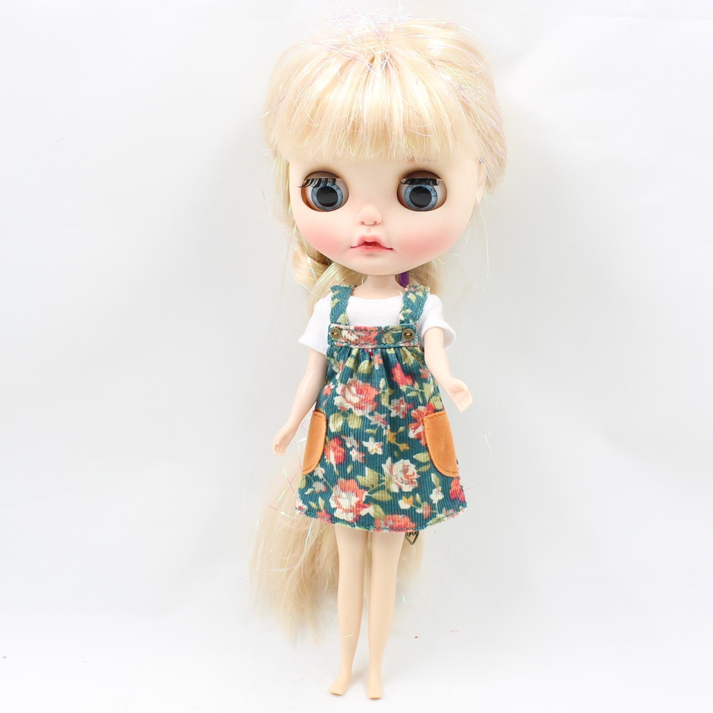 Neo Blythe Doll Floral Spring Overall Dress 2