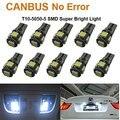 10Pcs Lampada Canbus Canceller 5 Led 5050 T10 Pingo Xenon Torpedo