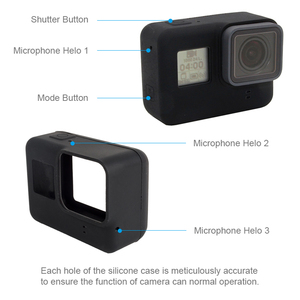 Image 5 - For GoPro Accessories Soft Silicone Protection Case Skin+Lens Cap Cover for Go Pro Hero 7 6 5 Black Edition Action Camera