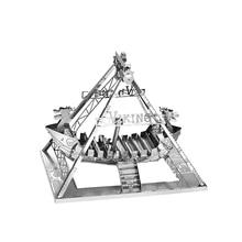 Nanyuan 3D Metal Puzzle Viking Szabadidő épület Modell DIY Lézer vágott összeszerelése Homorítófűrészek Asztali dekoráció GIFT Audit