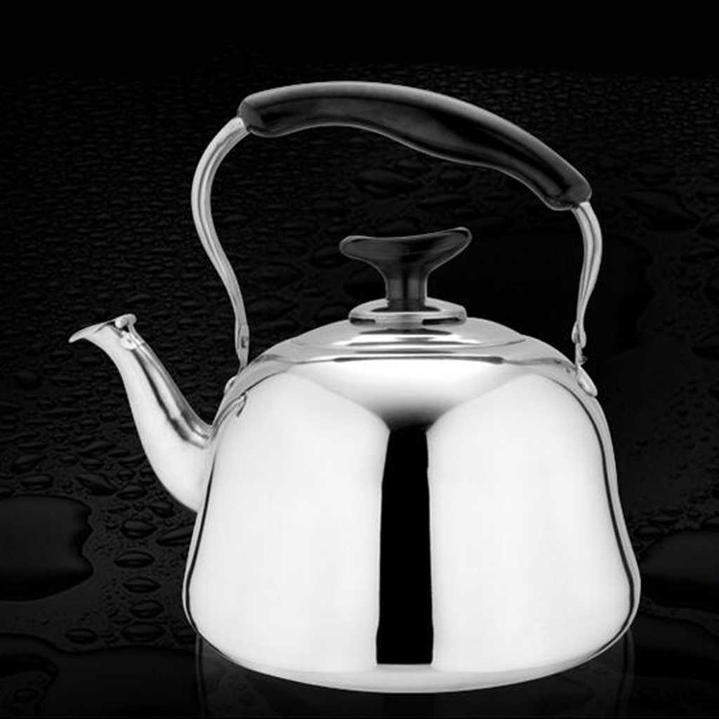 0.6L Stainless Steel Whistling Kettle Teapot Electric Stove Gas Hobs Camping
