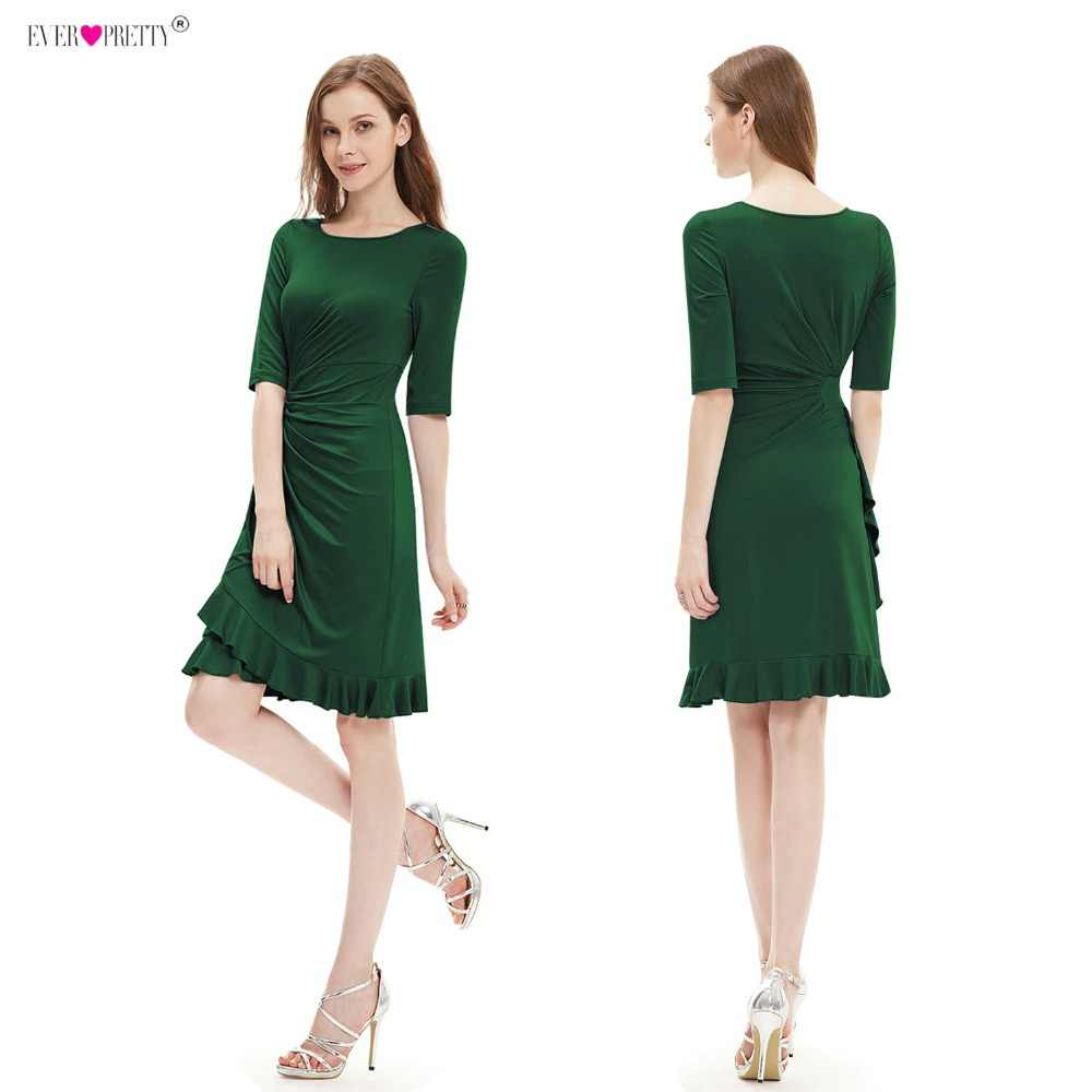 fc0a395ea58 Ever Pretty Cocktail Dresses Knee Length Half Sleeve Short Causal Prom  Party Dress 2018 Special Occasion
