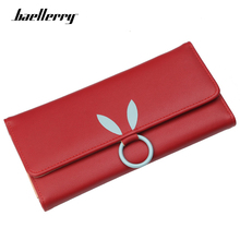 Купить с кэшбэком Baellerry Long Women Wallets High Quality PU Leather Women's Purse and Wallet Design Rabbit Ears Hasp Lady Party Clutch Female