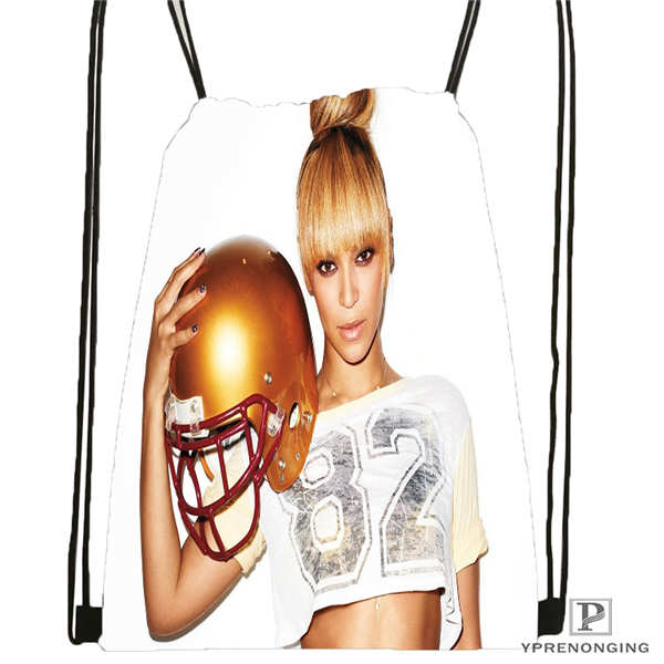 Custom Beyonce @2 Drawstring Backpack Bag For Man Woman Cute Daypack Kids Satchel (Black Back) 31x40cm#20180611-03-142