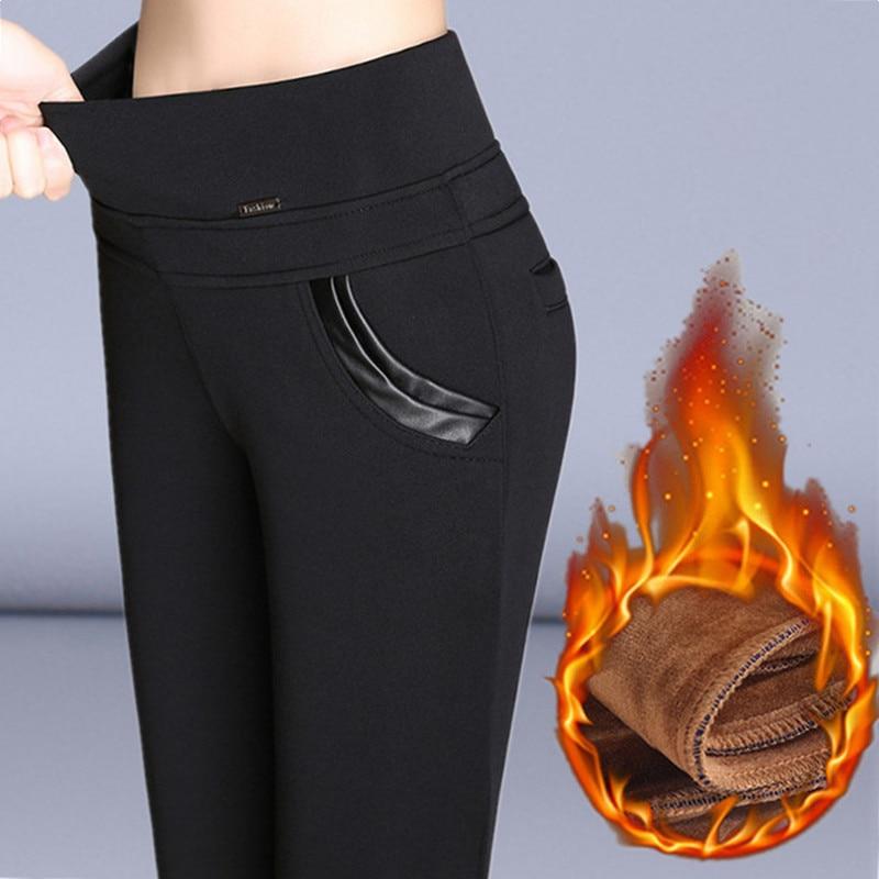 2018 Pus Size S-6XL   Leggings   Autumn Winter Plus Velvet   Leggings   Women High Waist Skinny   Legging   Long Pants Warm Winter   Leggings