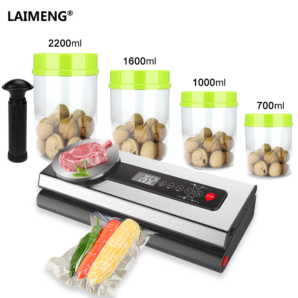 все цены на LAIMENG Vacuum Sealer Packer Machine With Food Grade Container Vacuum Bags Packaging For Packaging Food Preservation S213 онлайн