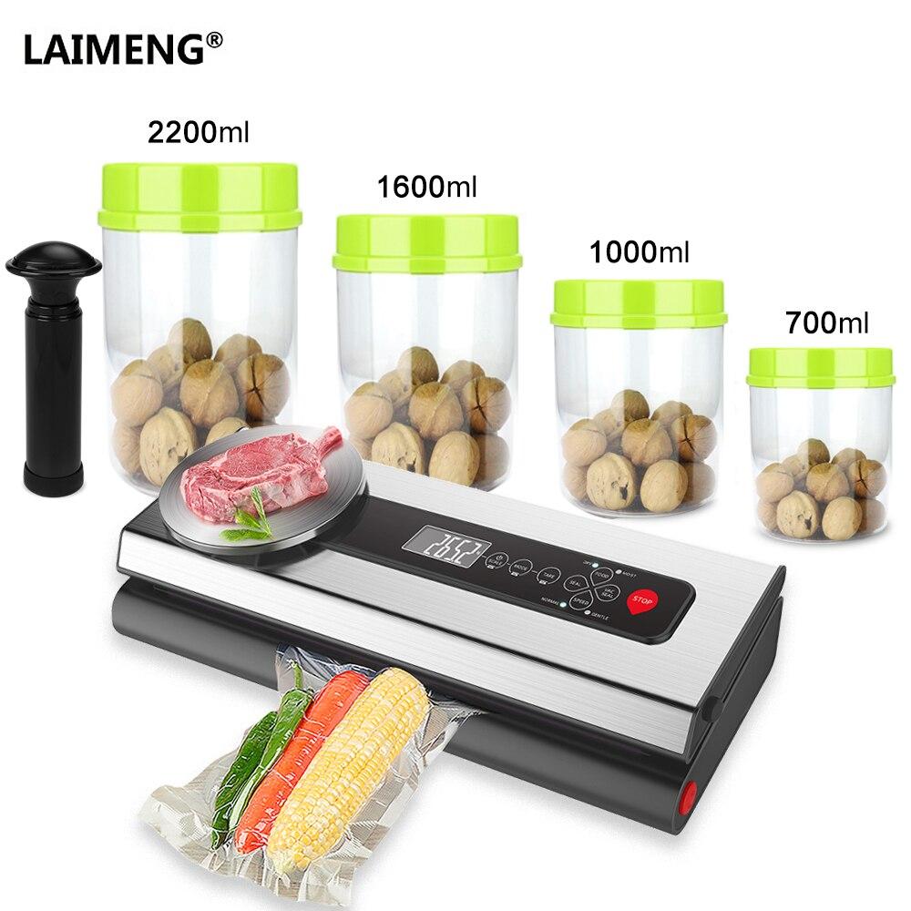 LAIMENG Vacuum Sealer Packer Machine With Food Grade Container Vacuum Bags Packaging For Packaging Food Preservation S213|Vacuum Food Sealers| |  - title=