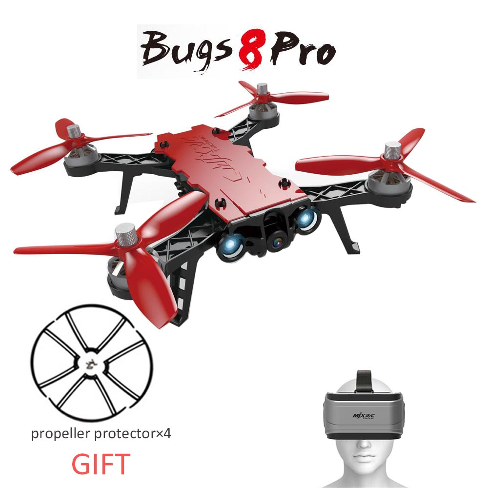 New Arrival MJX B8Pro Bugs 8 Pro RC Drone Racing High Speed Motor Brushless Quadcopter with 5.8G HD 720P Camera RC Helicopter