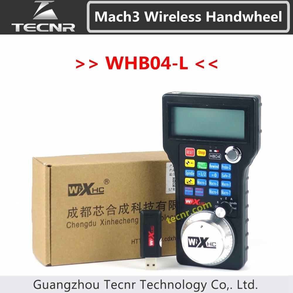 XHC CNC handwheel wireless Mach3 MPG pendant handwheel for milling machine 4 axis MPG WHB04 / WHB04-L /WHB04L engraving machine remote control handwheel mach3 mpg usb wireless hand wheel for cnc 3 axis 4 axis controller milling machine