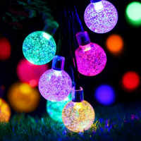 JSEX LED RGB Bubble Ball Lighting String Holiday Lighting Waterproof Fairy Lights Christmas Tree Deal Garland Home Decoration